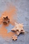 Sternförmige Zimtplätzchen
