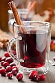 Cranberry tea with cinnamon