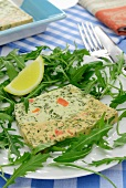 Salmon and mussel terrine with herbs