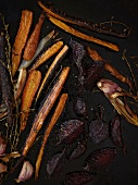 Beetroot and carrots roasted with garlic