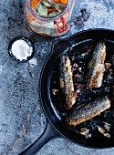 Fried herring with pickles