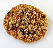 A Single Oatmeal Raisin Cookie on White