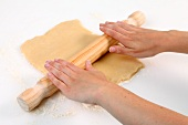 Rolling out pastry