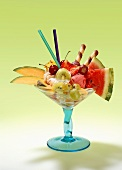 Summery fruit sundae
