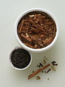 Chai Tea Spices with Black Tea; Cinnamon, Cardamom, Cloves