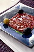Harissa mit Oliven (Tunesien)