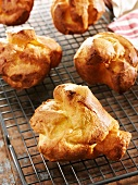 Five Popovers on a Cooling Rack