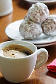 Cup of Espresso with Mexican Wedding Cookies