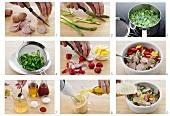 Wurstsalat mit Gemüse zubereiten