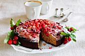 Cornelian cherry cake