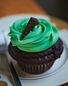 An After Eight cupcake
