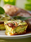 Courgette clafoutis