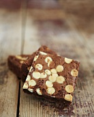 Brownies with white chocolate chips