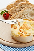 Baked cheese with white bread