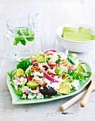 Salad made with sushi rice and tuna
