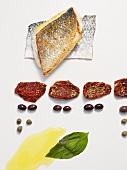 Pan-fried bass with sauce vierge