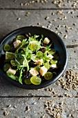 Traubensalat mit französischen Weichkäse (Reblochon)