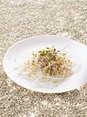 Rice salad with apple and black radish