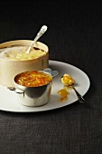 Baked Vacherin cheese with citrus marmalade