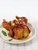 Barbecued chicken with sage