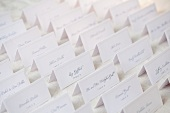 Wedding table place cards