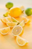 Lemons and Limes; Whole, Half and Slice