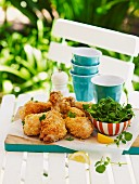 Crispy chicken drumsticks for a picnic for Australia Day