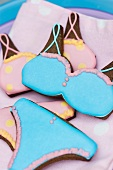 Bikini cookies with blue and pink icing