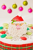 Santa Claus decoration for a Christmas cake