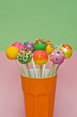 Colorful cake pops for a party