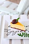 Cheesecake with bitter chocolate