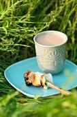 Roast marshmallows with hot cardamom-chocolate