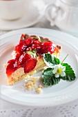Strawberry cream cheese cake