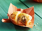 Muffin filled with anchovies