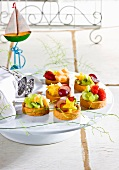 Marzipan tartlets with fruit