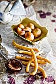 Doughnuts with ricotta, cherries and yogurt for Hanukkah