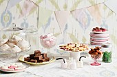 Buffet with assorted sweet items