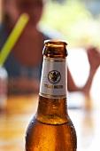 Geöffnete Bierflasche