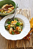 Vegetable risotto with carrots, broccoli and zucchini