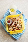 Noodle salad with tomato relish