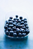 Blueberries in a plastic punnet
