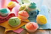 Colourful birthday muffins