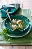 Soup with herb dumplings