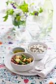 Asparagus salad with wild rice