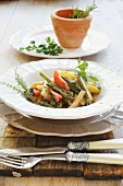 Vegetable stew with cream cheese and herbs