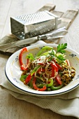 Buckwheat and vegetable stir fry