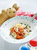 Pasta with carrot and tomato sauce