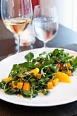 Roasted Pumpkin Salad on a White Plate