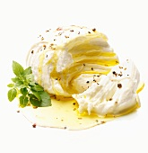 Mozzarella with olive oil and pepper