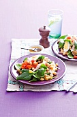 Moroccan salad with chicken and chickpeas